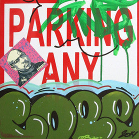 "COPE 2 - ""Green Classic Bubble 31"" No Parking Sign"