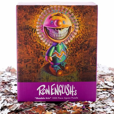 RON ENGLISH - Mandala Grin Jigsaw Puzzle