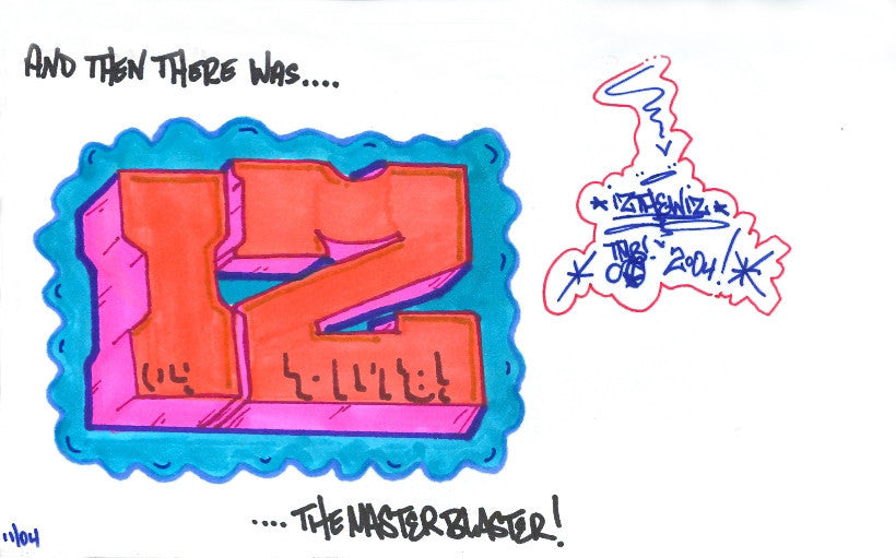 "IZ THE WIZ - ""Blockbuster"" Drawing"