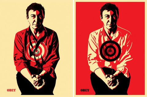 SHEPARD FAIREY - Jasper Johns Matching set""