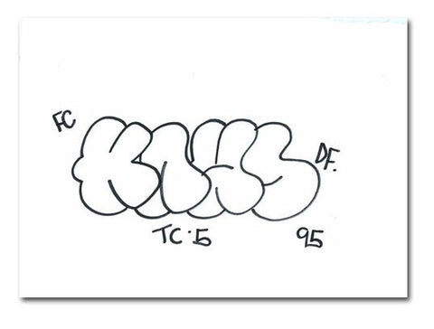 "KAWS ONE  Untitled""  Black Book Drawing"