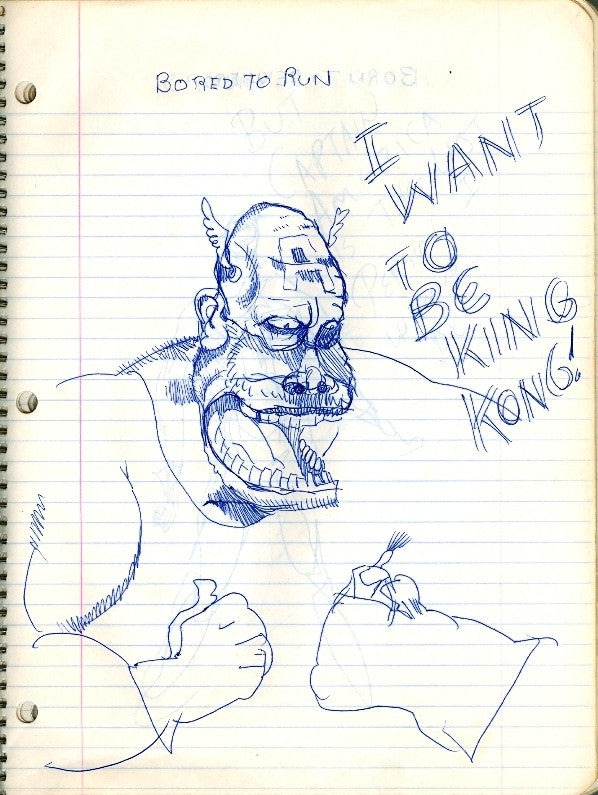 "DANIEL JOHNSTON -  ""King Kong Captain"""