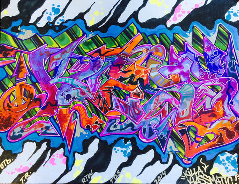 "KLASS RTW  - ""Untitled""  Black Book Drawing"