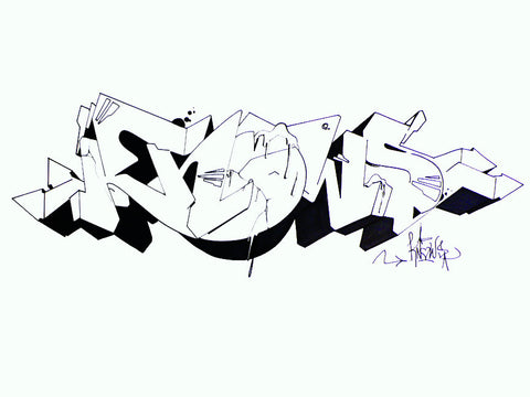 "WANE - ""Knows Crack""  Blackbook Drawing"