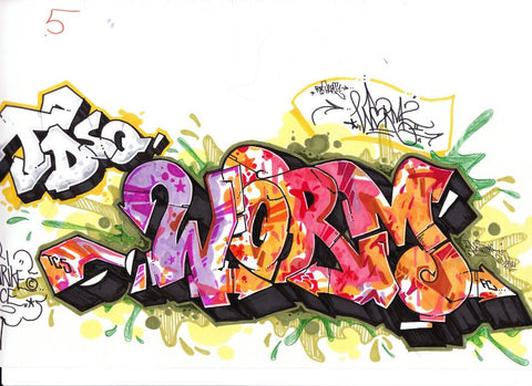 "DONTAY - ""Worm2 For Part""  Blackbook Drawing"