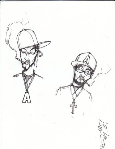 "DONTAY - ""(A) Mugs""  Blackbook Drawing"