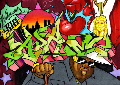 "DOVES - ""Notorious Big Apple""  Blackbook Drawing"
