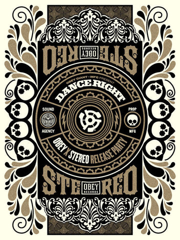 "SHEPARD FAIREY - ""OBEY - MFG - STEREO Collab """