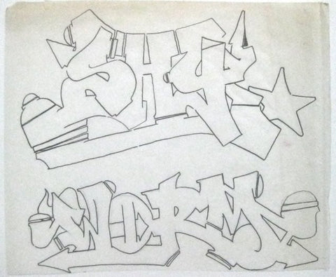 "PART ONE - ""Shy/Worm Outline "" Black Book Drawing"