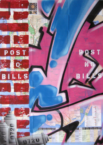 "GRAFFITI ARTIST SEEN -  ""Post No Bills"" NYC Map"