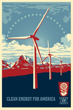 "SHEPARD FAIREY - ""Power up Windmill"""