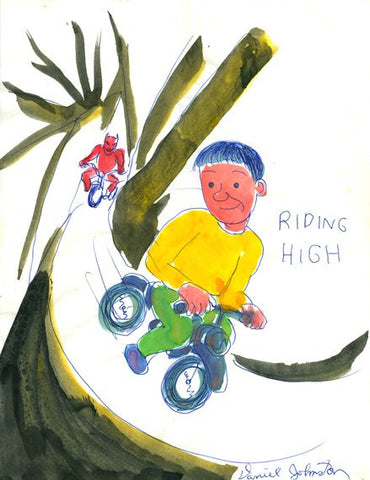 "DANIEL JOHNSTON - ""Riding Hign"""