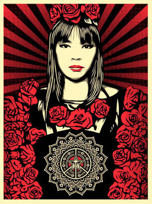 "SHEPARD FAIREY - ""Rose Girl"""