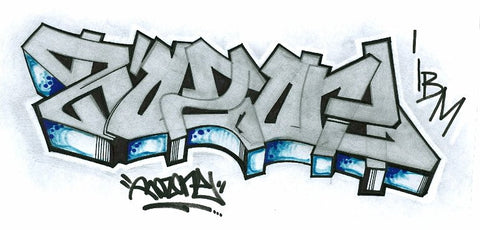 "ROZ ONE -""Roz One "" BlackBook Drawing"