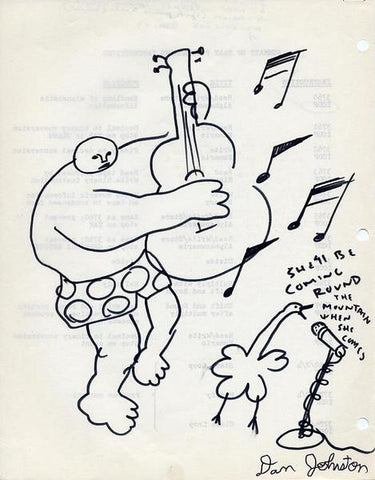 "DANIEL JOHNSTON -  ""Round the mountain"""