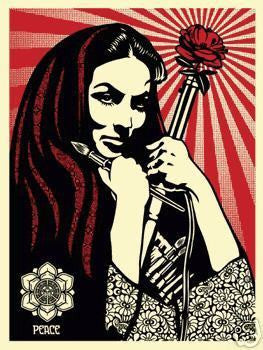 "SHEPARD FAIREY - ""Revolution Woman with brush"""