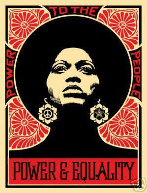 "SHEPARD FAIREY - ""Afrocentric RED"""