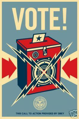 "SHEPARD FAIREY - ""Vote"""