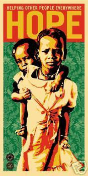 "SHEPARD FAIREY - ""Hope for Darfur"" 100% of the money from this print goes to the HOPE campaign"