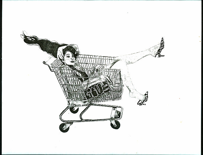"ALBERT REYES -  ""Shopping Cart"" Print"