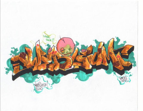 "WEB TC5 - ""Sick Kid Weboleum""  Blackbook Drawing"