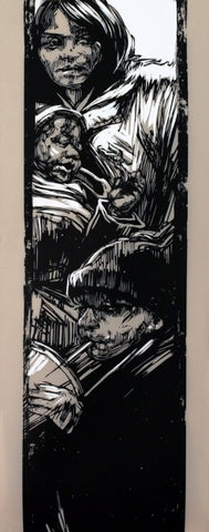 "SWOON - ""Untitled"" on Mylar"