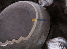 Cargar imagen en el visor de la galería, Fine Mono Center with Wide Poly Perimeter Stock Hair Replacement Systems