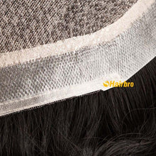 Cargar imagen en el visor de la galería, The Injection Lace Center with Poly around Stock Hair Replacement System for Men