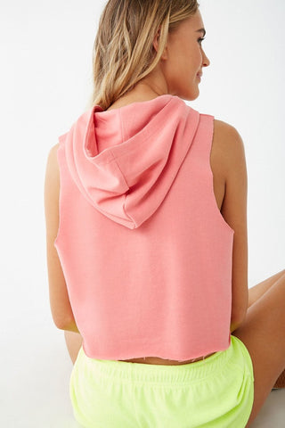 Beach Graphic Hooded Muscle Tee