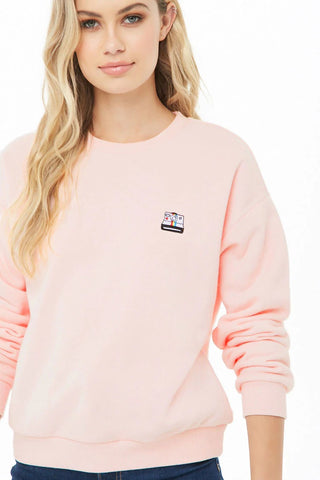 Camera Embroidered Sweatshirt