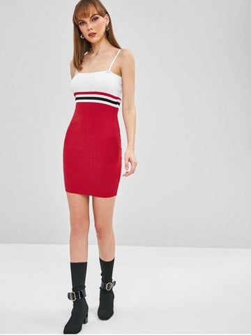 Cami Striped Mini Dress