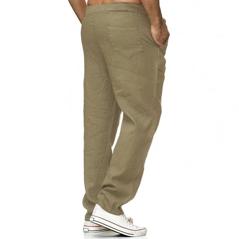 Casual Pants With Elastic Waistband