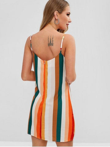 Colorful Stripes Cami Dress