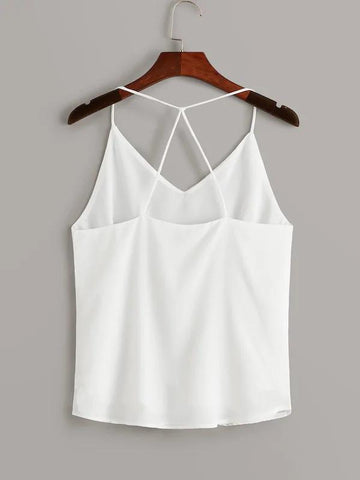 Criss Cross Solid Cami Top