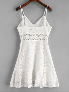 Crochet Panel Eyelet Cami Dress