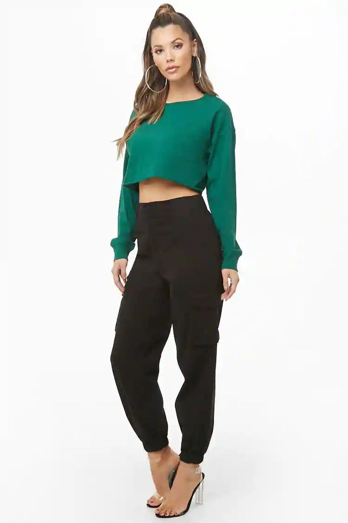 Cropped Fleece Sweatshirt