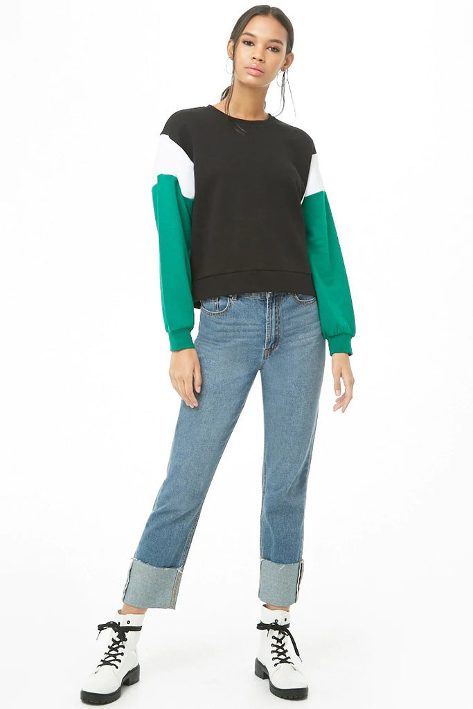 Fleece Colorblocked Top