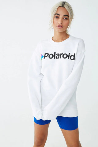 Fleece Polaroid Graphic Sweatshirt