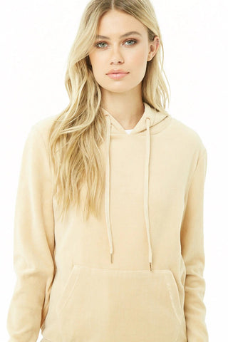 Hooded Velour Top