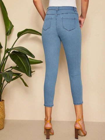 Pocket Detail Skinny Jeans