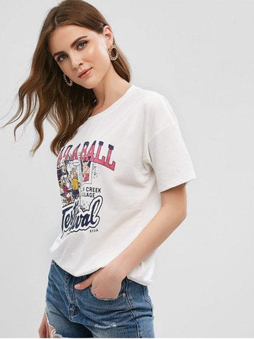 Cute Restaurant Letter Graphic Tee