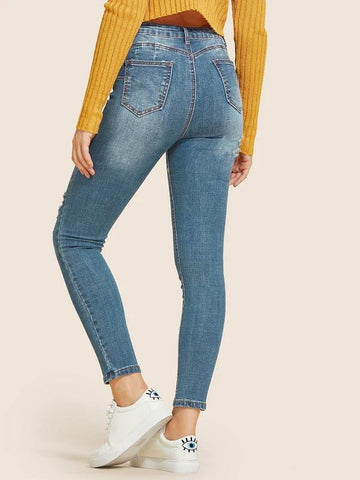 Best Selling Ripped Faded Wash Jeans