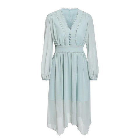Romantic Autumn Long sleeve chiffon dress