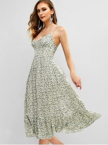 Shirred Tiny Floral Cami Dress ‰ÛÒ Multi
