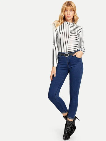 Skinny Ankle Jeans Without Belt