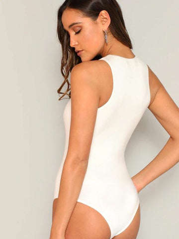 Slim Fitted Solid Bodysuit