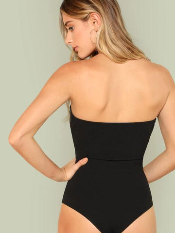 Slim Fitted Strapless Skinny Bodysuit