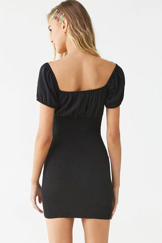 Smocked Off-the-Shoulder Bodycon Dress