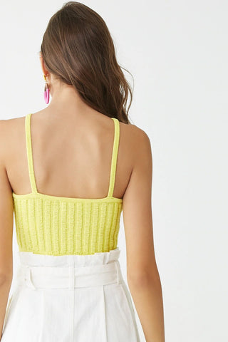 Square Neck Cropped Cami