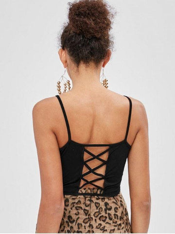 Criss-Cross Tie Lattice Camisole